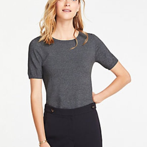 Ann Taylor Tops - ANN TAYLOR The Sweater Tee in Silver Lake Gray